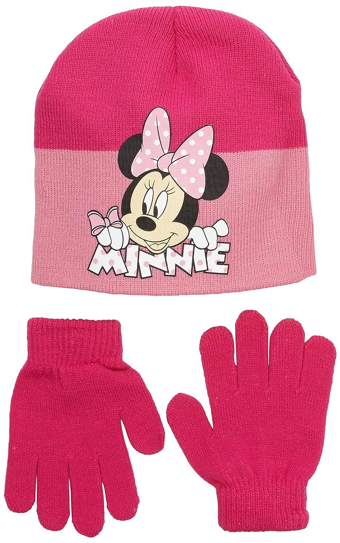 Disney CONJUNTO 2 PCS GORRO + GUANTES MINNIE - Conjunto 2 Pcs Gorro + Guantes infantil color fushia talla 54 HO4074