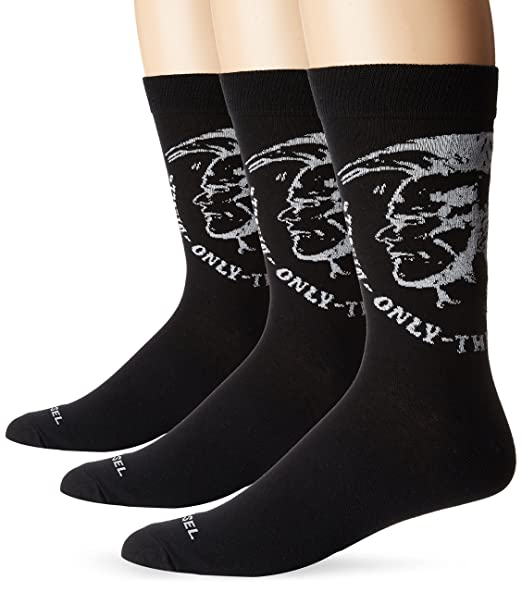 Amazon.com: Diesel Men s Ray paquete de 3 calcetines de ...