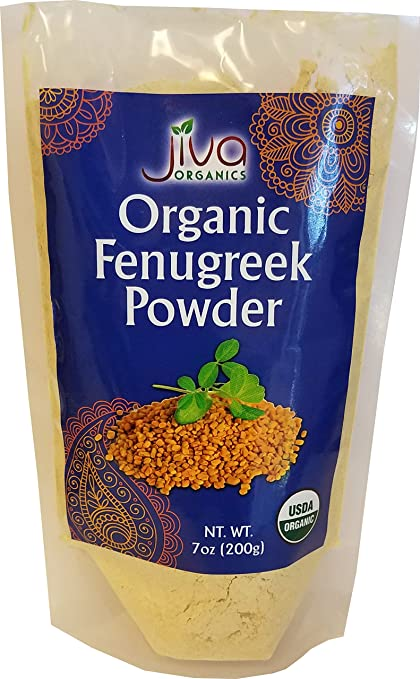 Organic Fenugreek Powder 7 Ounce   Non Gmo Certified Usda Pure Organic Ground Methi Powder   By Jiva Organics by Jiva Organics