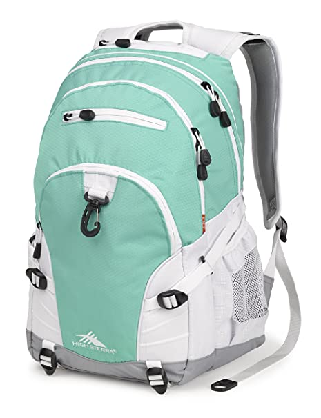 ef0015abf647 High Sierra Loop Backpack - Aquamarine White Ash - with Compression Straps  - Ideal