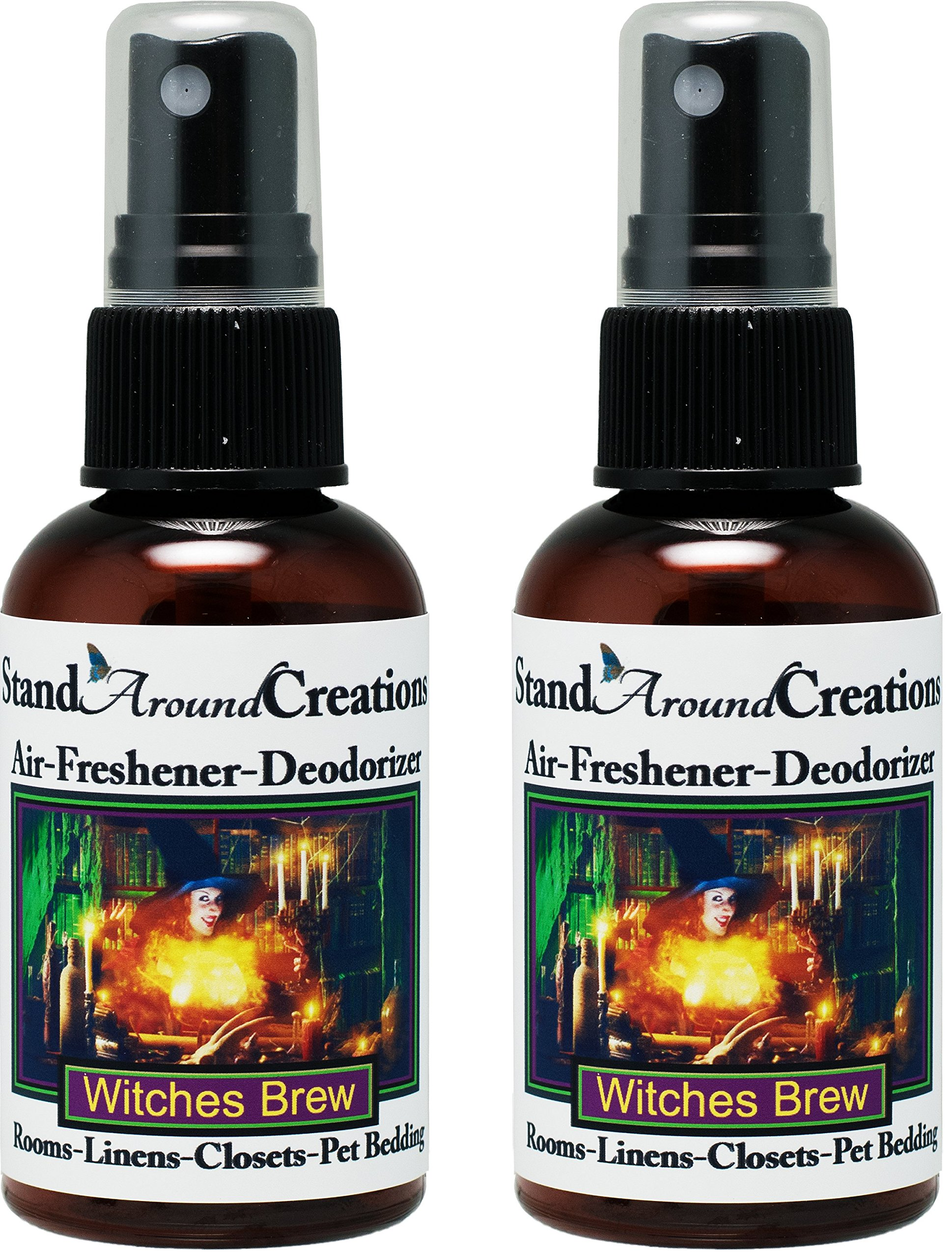 Set of 2 - Concentrated Spray For Room / Linen / Room Deodorizer / Air Freshener - Witches Brew by Stand Around Creations (Image #1)