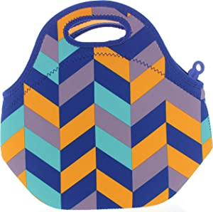 BUILT NY Gourmet Getaway Neoprene Lunch Tote (Mod Navy Chevron)