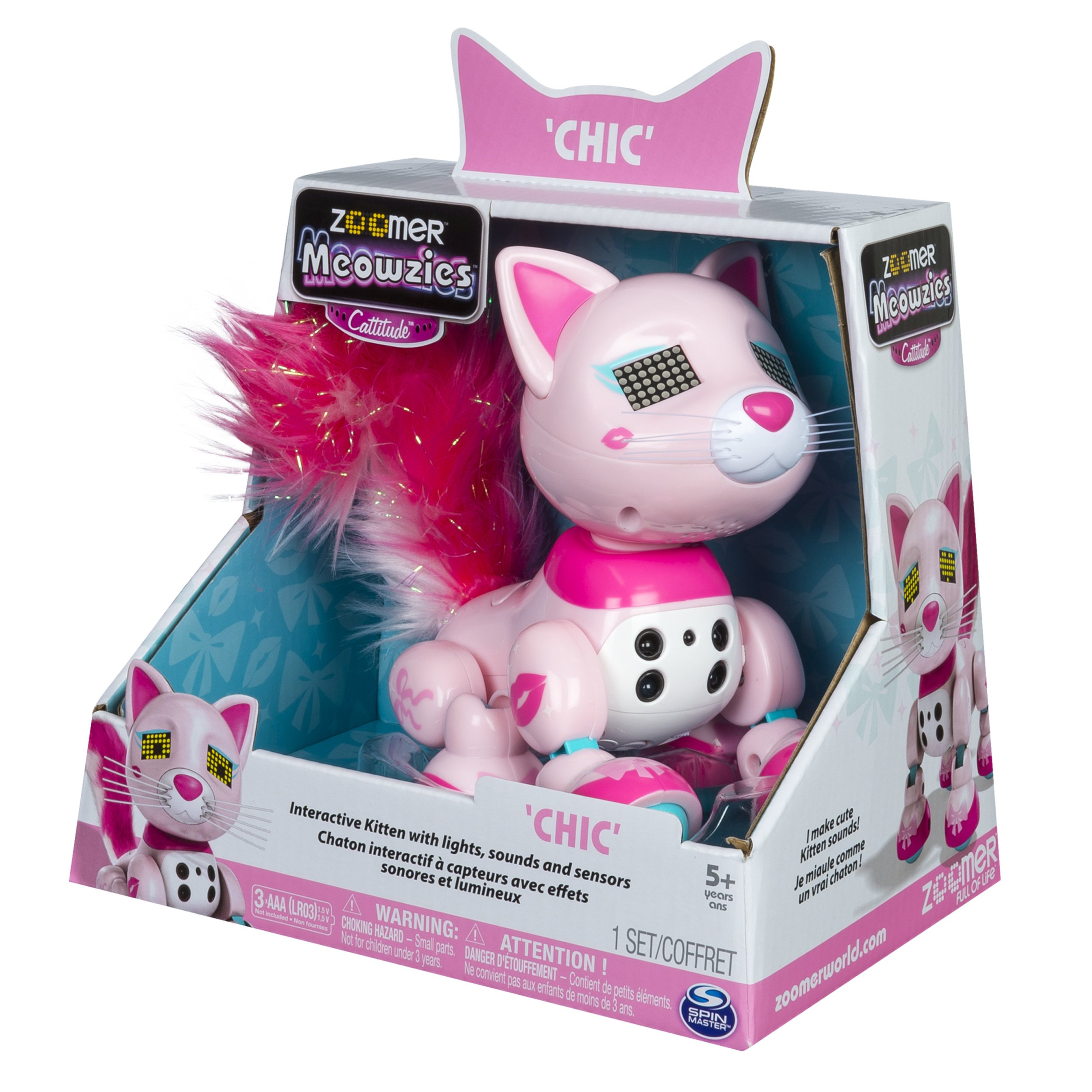 Zoomer Meowzies, Chic, Interactive Kitten with Lights, Sounds and Sensors by Zoomer (Image #8)