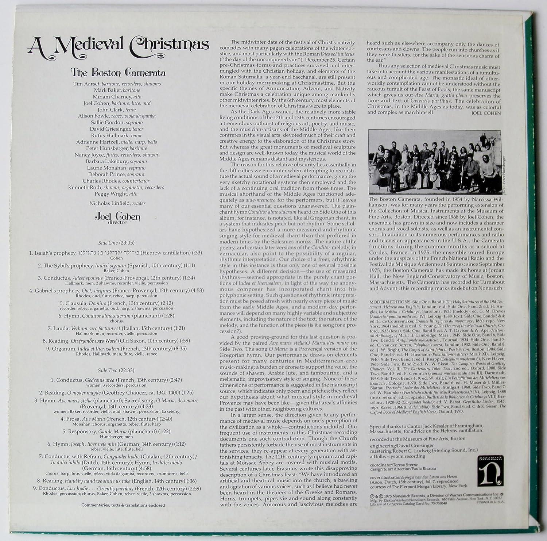 Joel Cohen, The Boston Camerata - A Medieval Christmas: The Boston ...