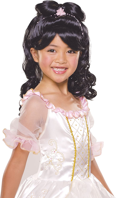 Rubie's Elegant Princess Child's Costume Wig, Black Rubies - Domestic 51420