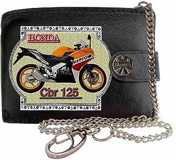 7a087c26c4f9b HONDA Cbr125 Repsol Bild auf KLASSEK Marken RFID Herren Geldbörse  Portemonnaie Echtes Leder mit Kette Motorrad