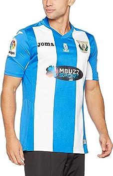 1ª Equipación CD Leganés 2016/2017 - Camiseta oficial Joma, Blanco/Azul, S: Amazon.es: Deportes y aire libre