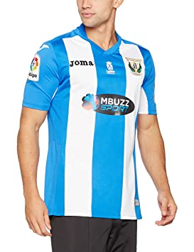Joma 1ª Equipación CD Leganés 2016/2017 - Camiseta Oficial, Blanco/Azul,
