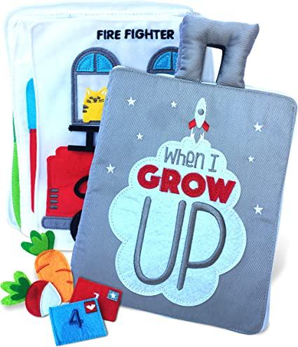 Amazon Com Curious Columbus Quiet Book When I Grow Up Fabric