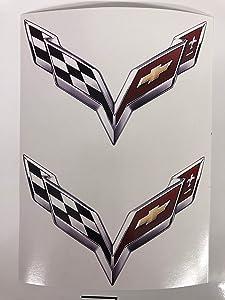 2 Corvette C7 C8 C9 Decals (3 inch)