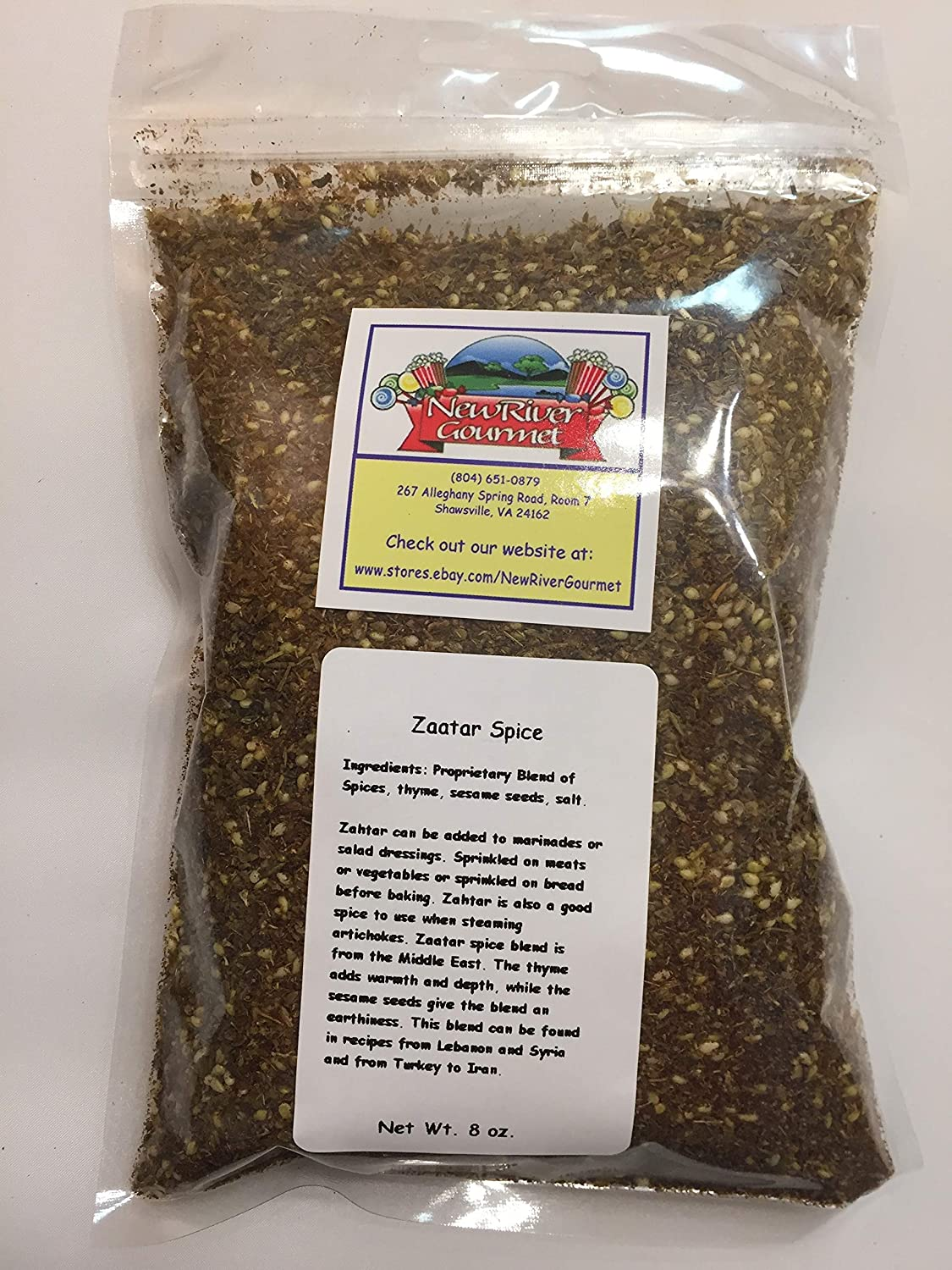 Zaatar Spice Blend, Middle Eastern and Mediterranean Spice (8 ounces)