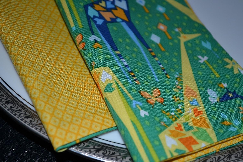 Giraffe Meanderings Reversible Cloth Napkins/Set of 4