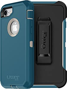 OtterBox DEFENDER SERIES Case for iPhone SE (2nd gen - 2020) and iPhone 8/7 (NOT PLUS) - Frustration Free Packaging - BIG SUR (PALE BEIGE/CORSAIR)