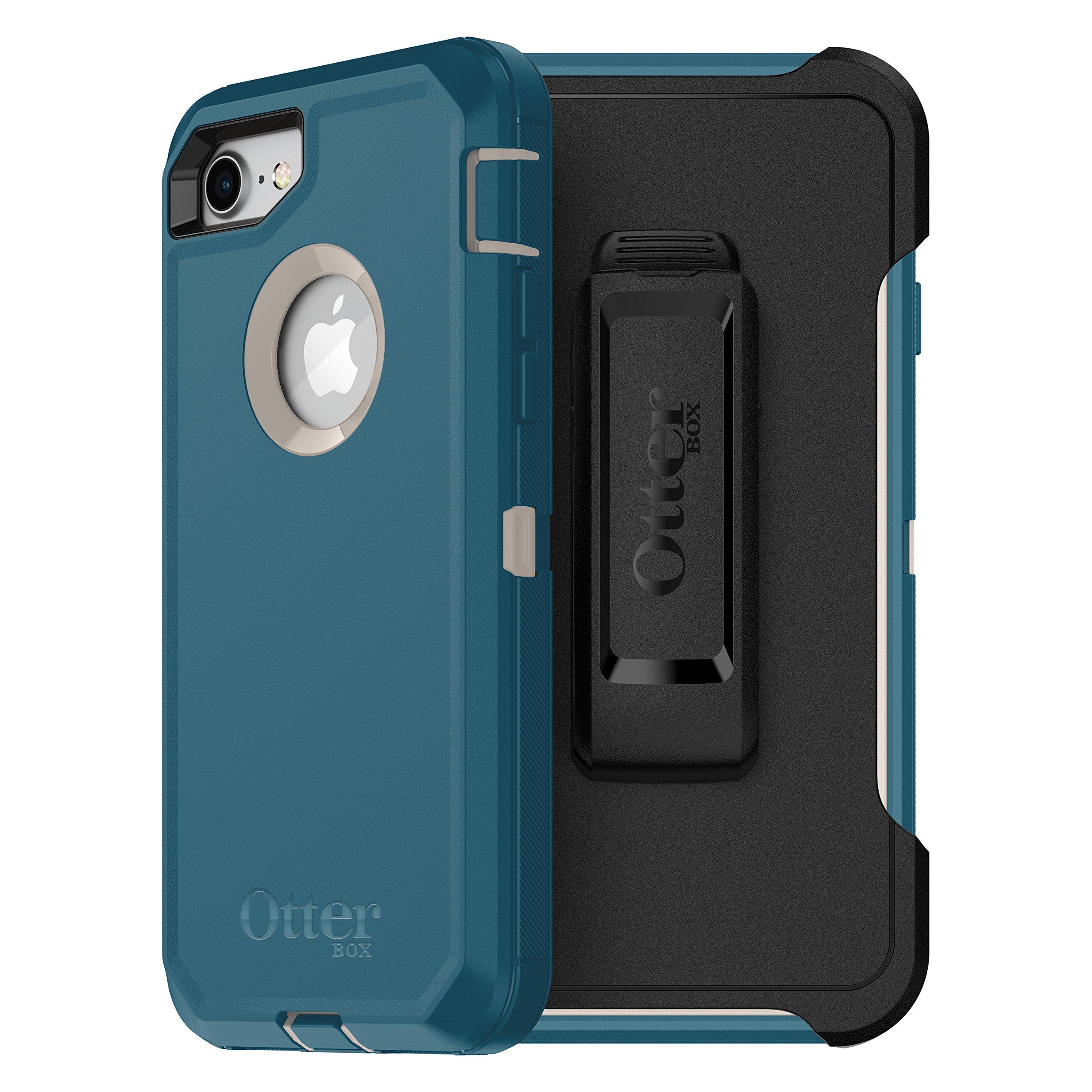 OtterBox DEFENDER SERIES Case for iPhone 8 & iPhone 7 (NOT Plus) - Frustration Free Packaging - BIG SUR (PALE BEIGE/CORSAIR)