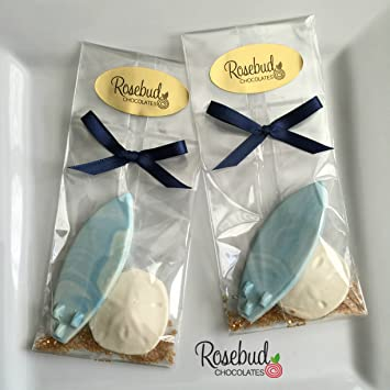 Amazon.com : 12 Chocolate SURFBOARD & SAND DOLLAR Candy Party Favors ...