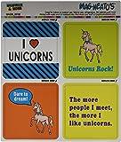 Graphics and More Unicorns Funny Love Mag-Neato's Automotive Car Refrigerator Locker Vinyl Magnet Set