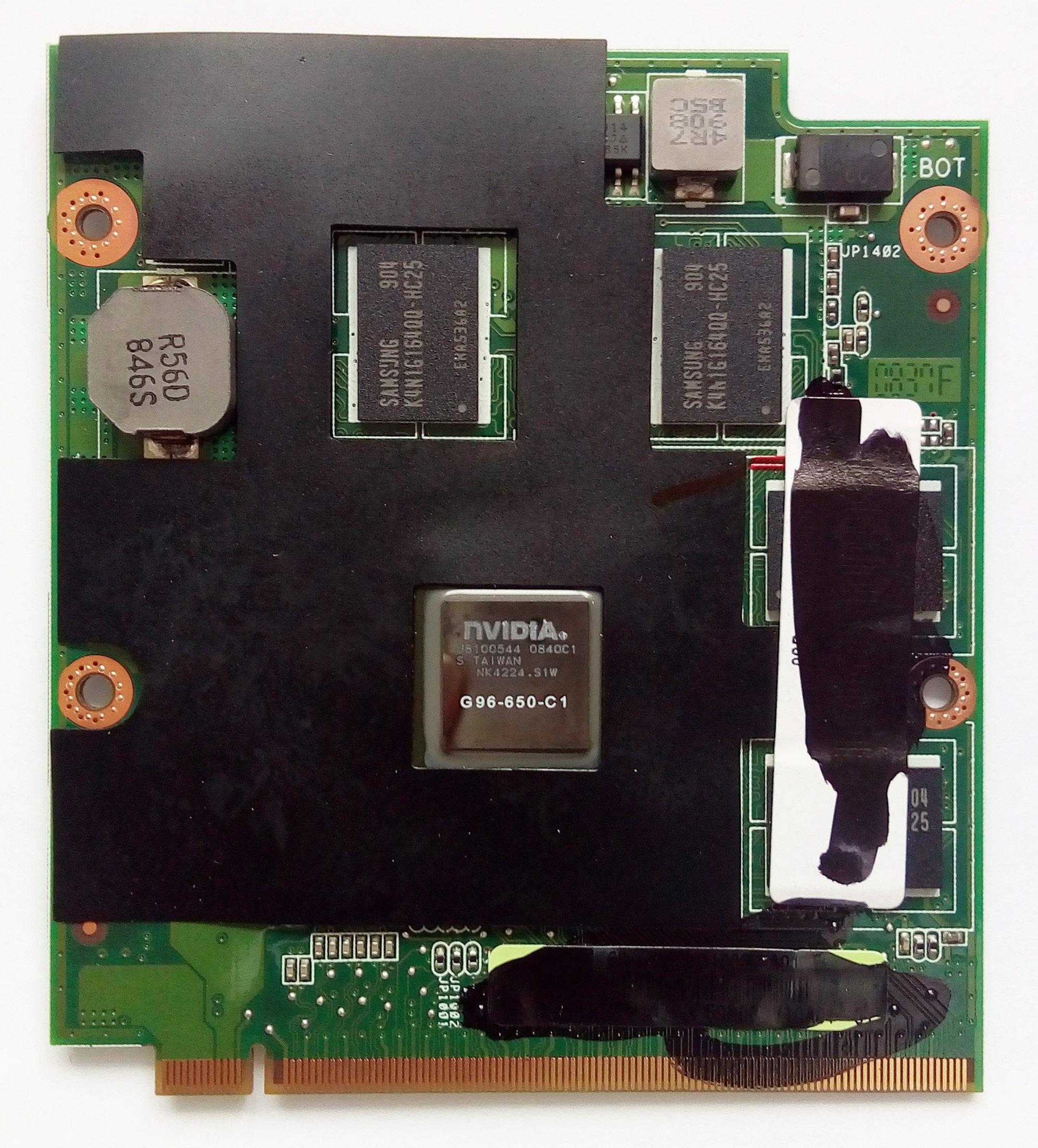 1G Laptop VGA Graphic Card G96-650-C1 for Asus N80VN Laptop 90R-NSWVG1000Y