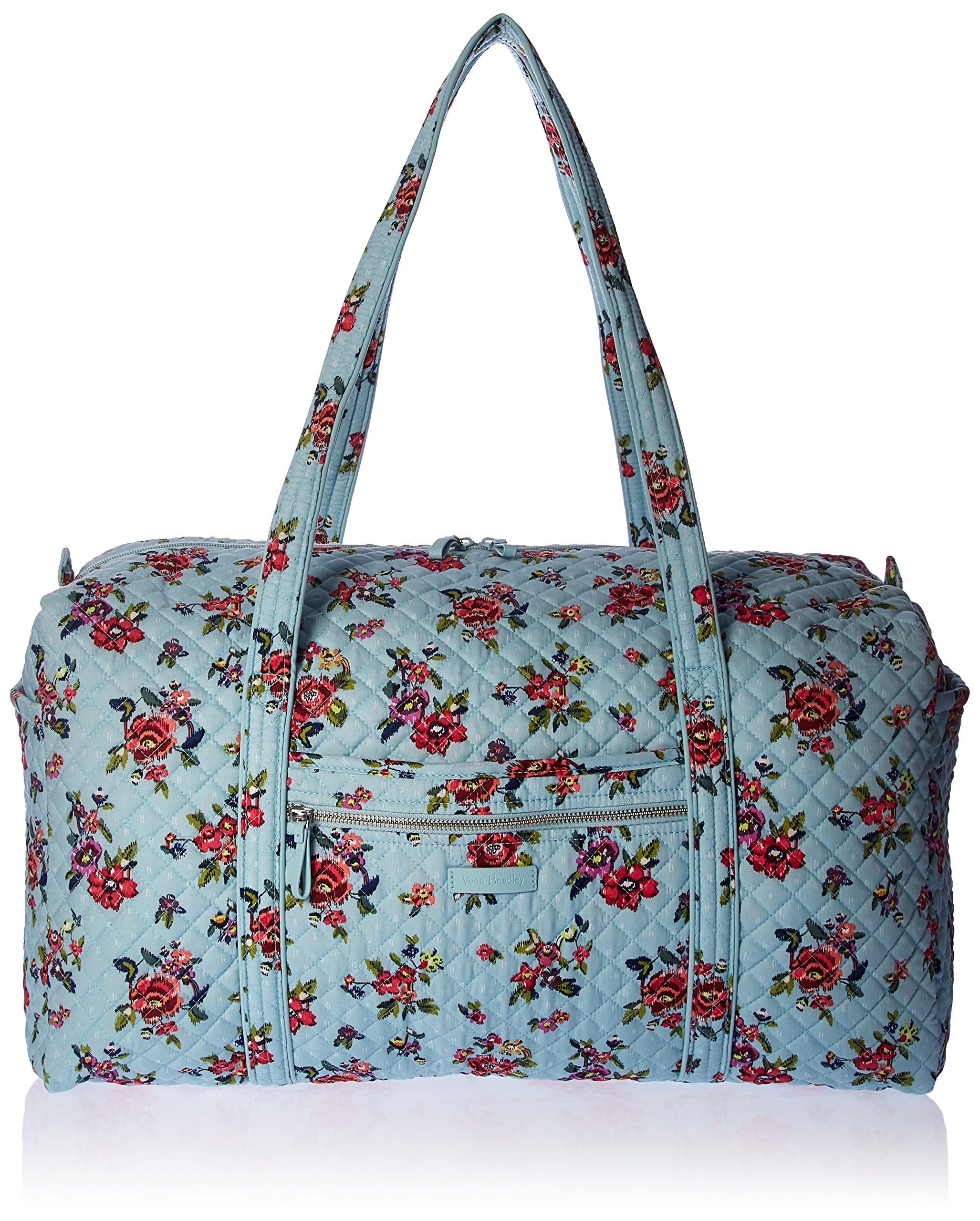 Vera Bradley Iconic Large Travel Duffel, Signature Cotton, Water Bouquet