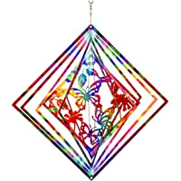 Dawhud Direct Kinetic 3D Butterfly Metal Garden Wind Spinner