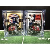 $24 » Tom Brady & Rob Gronkowski Tampa Bay Buccaneers Helmet Shadowbox w/card Set of 2