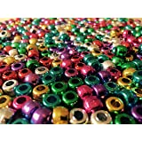 Art Straws CT2352 Metallic Pony Beads in Assorted Colours