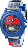 Marvel Ultimate Spider-Man  Kids' SPD3423 Multi-Color Watch With Plastic Band