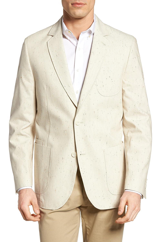 フライント アウター コート FLYNT Babbitt Seersucker Sport Coat Tan [並行輸入品] B079YHVBTL 40_L