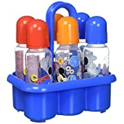 Disney Mickey Mouse 6 Piece Bottles in a Caddy, Blue