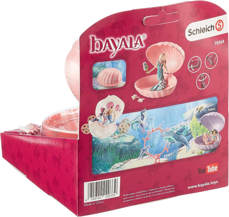 SCHLEICH Bayala sirena con Baby-Robbe in conchiglia personaggio del gioco gioco personaggio