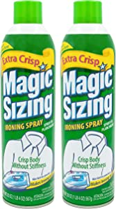 Magic Sizing Spray X-Crisp - Get That Extra Crisp and Extra Polished Look! - Wrinkle Iron Spray for Clothes-Fabric Refresher Spray (Pack of 2-20oz) - Mountain Lavender Scented Ironing Spray