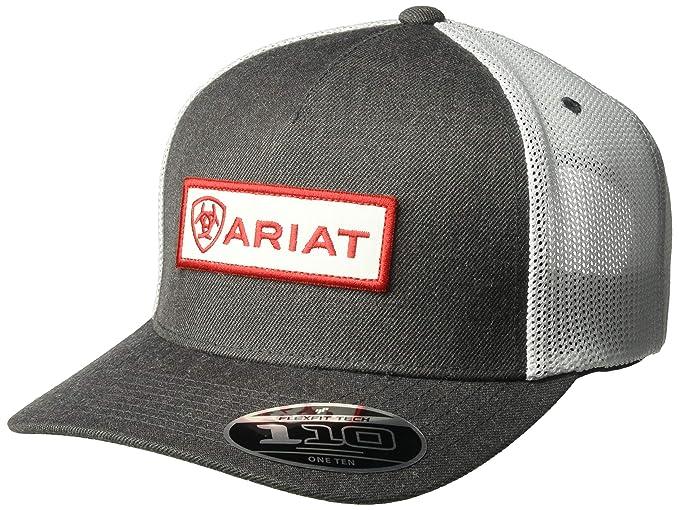 hot sale online 0f5c2 ab9e4 Ariat Men s 5-Panel Center Name Patch Flex 110, Gray, One Size at Amazon  Men s Clothing store