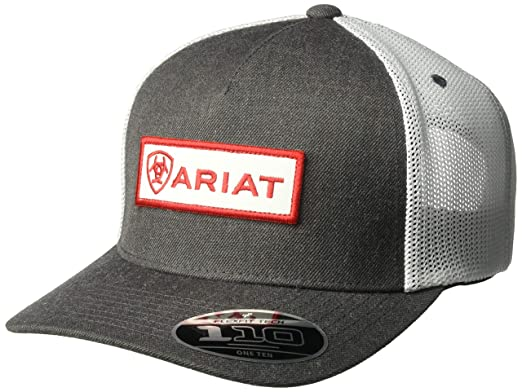 8a5f6d50 Ariat Men's 5-Panel Center Name Patch Flex 110, Gray, One Size at ...