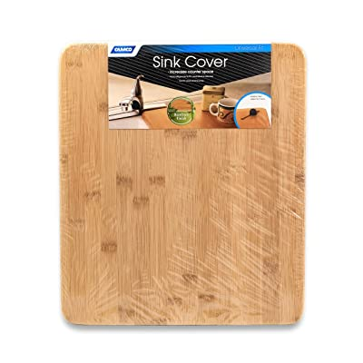 Camco RV and Marine Sink Cover- Adds Additional Counter and Cooking Space in Your Camper or RV Kitchen - Bamboo Wood (43431): Automotive