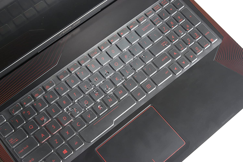 Leze TPU Ultra Thin Keyboard Skin Protector for 15.6 ASUS ROG Strix GL553 GL553VE GL553VD,ZX53VW,FX73VE,17.3 GL753VD GL753VE Gaming Laptop