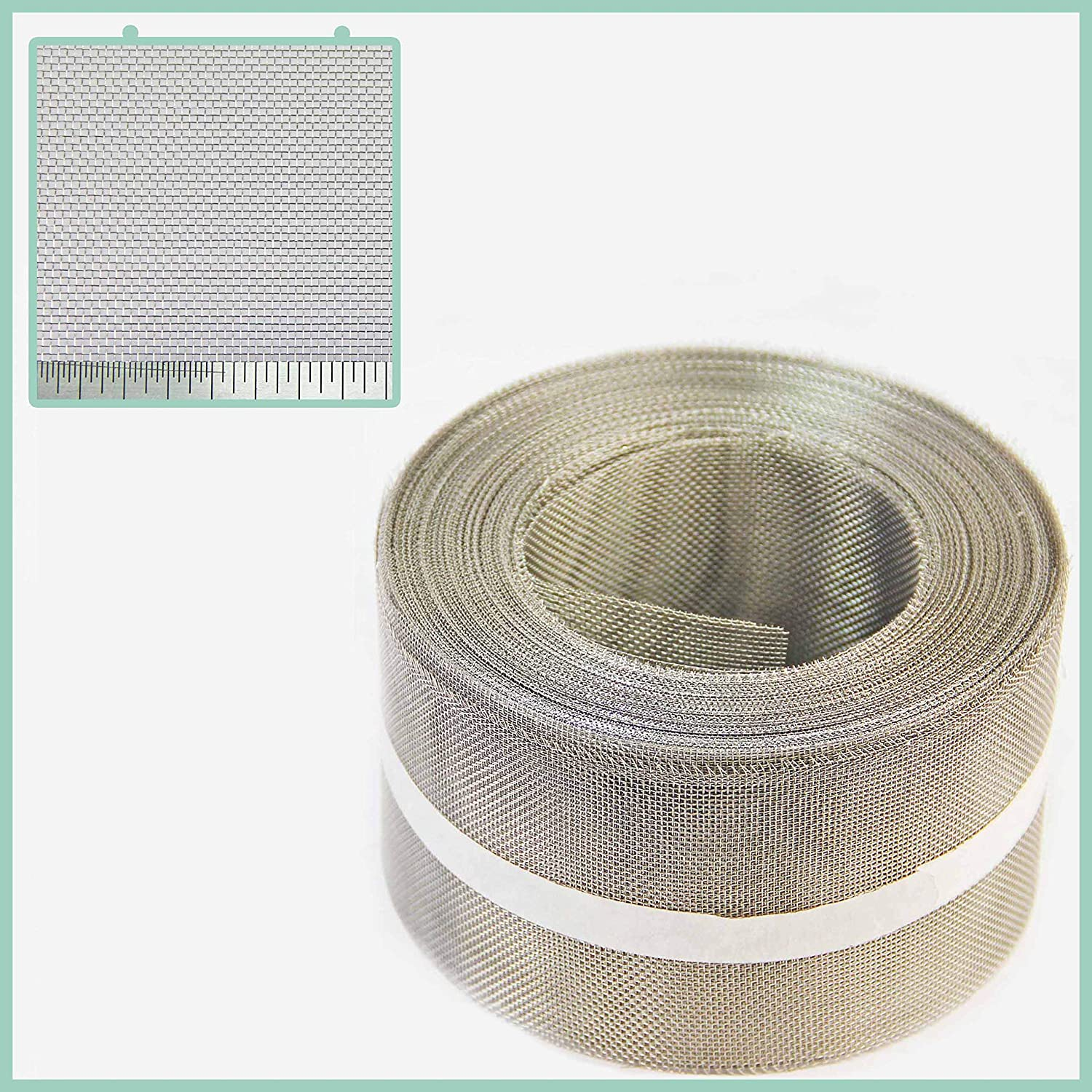 75mm x 30.5mm Stainless Steel Insect Screen Soffit Mesh Roll The Mesh Company