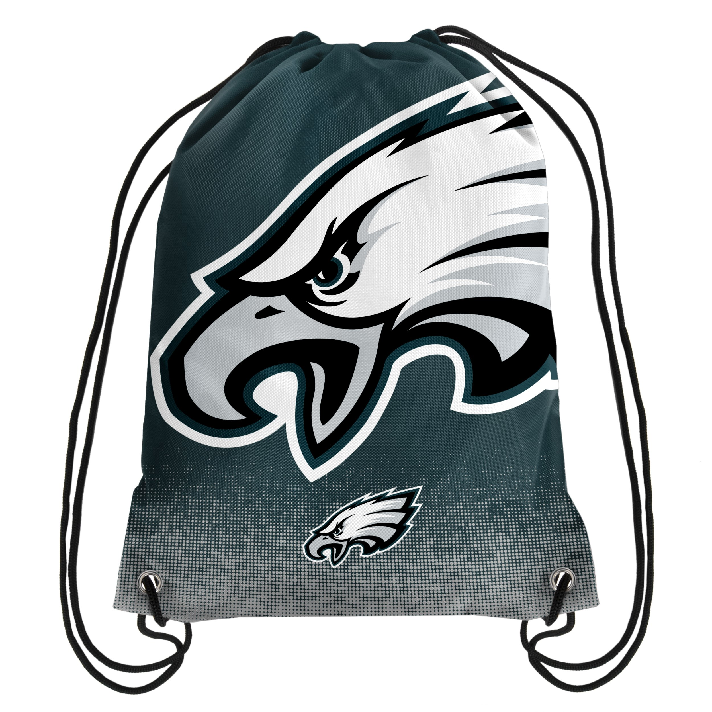 Forever Collectibles NFL Unisex Gradient Drawstring Backpackgradient Drawstring Backpack, Philadelphia Eagles, Standard