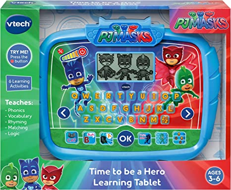 Amazon.com: VTech PJ Masks Time to Be A Hero Learning Tablet ...
