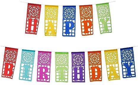 Cartel de papel de seda mexicano con texto