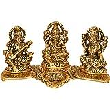 Nexplora Industries Laxmi Ganesh Saraswati Idol Showpiece Oil Lamp Diya