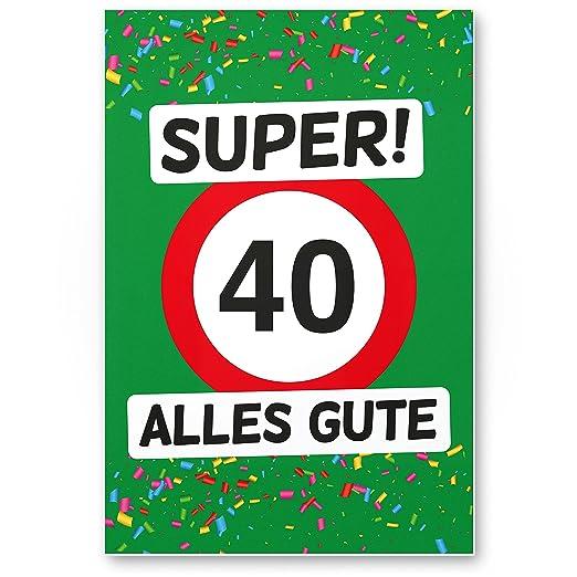 DankeDir!. 40 Alles Gute (Verde) - Cartel de plástico ...