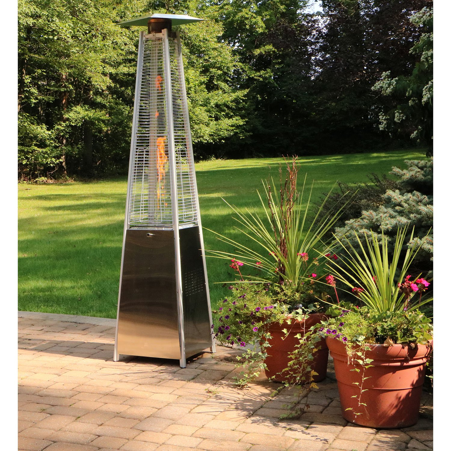 amazon com hanover 42000 btu pyramid propane patio heater 7