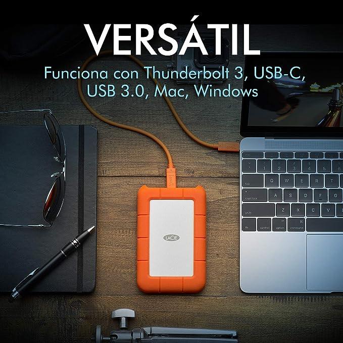 LaCie Rugged USB-C, 4TB - Disco duro externo portátil para Mac ...
