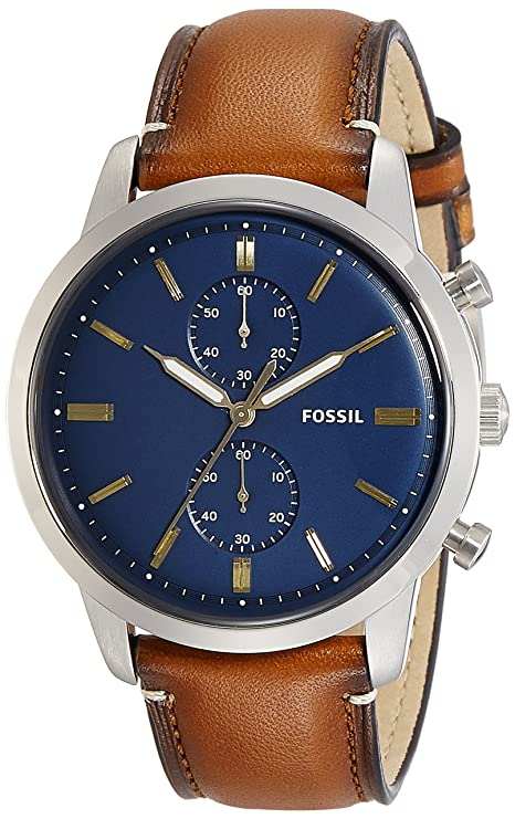FOSSIL Chronograph Blue Dial Men's Watch - FS5279I Men's Watches at amazon