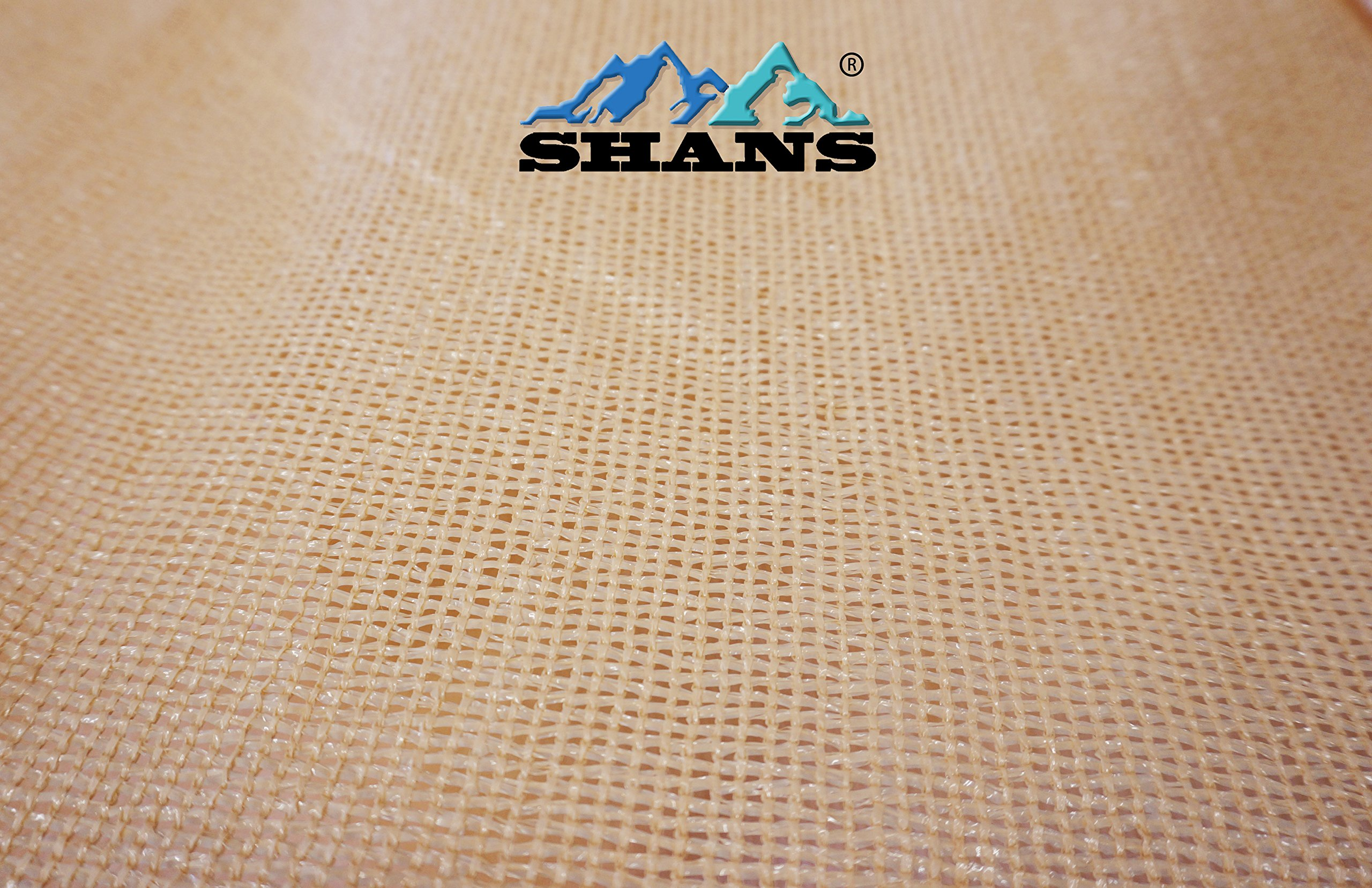 SHANS Wheat Shade Cloth Blocks 70% of UV with Free Clips (20ft x 50ft) by SHANS (Image #2)