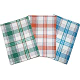 Lushomes Yarn Dyed Kitchen Cleaning Towels (Pack of 3 Kitchen Napkin - Multicolour)