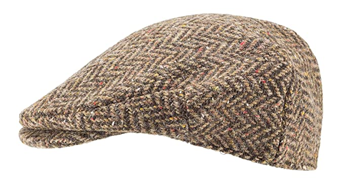 41a833fdce7fa Hanna Hats of Donegal.Irish Flat Cap.Donegal Tweed.Brown Herringbone ...