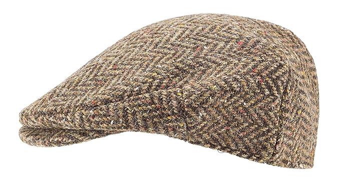 8c5c6d28 Hanna Hats of Donegal.Irish Flat Cap.Donegal Tweed.Brown Herringbone ...