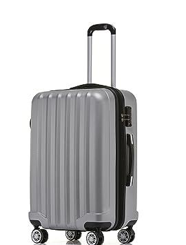 TSA - Candado 2080 Hang epäck Ruedas Gemelas Maleta rígida L XL de m (Board Case) en 12 Colores, Plata, Large: Amazon.es: Deportes y aire libre