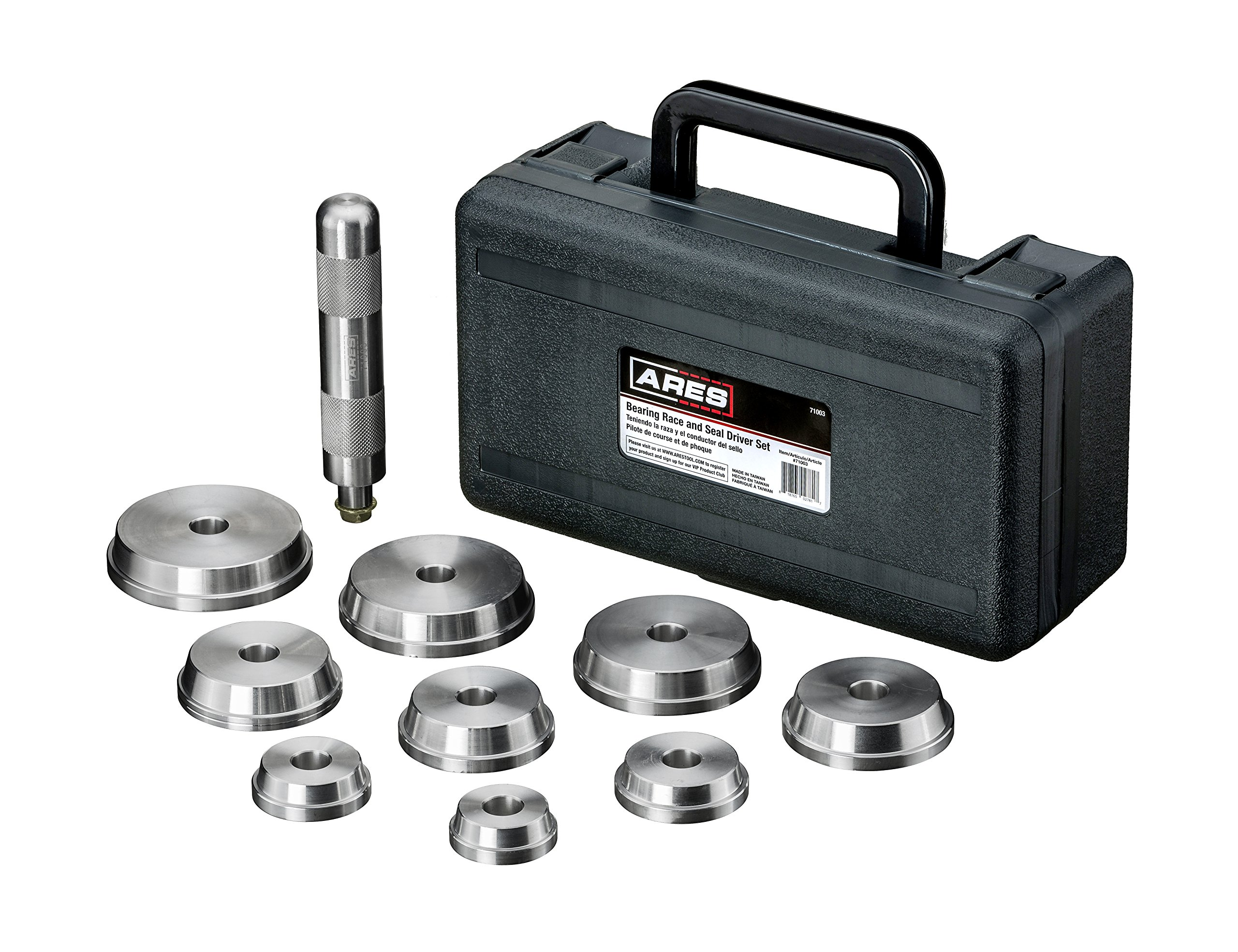 ARES 71003 | Bearing Race and Seal Driver Set | Universal Kit Allows for Easy Race and Seal Installation Storage Case Included