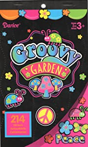 Darice Sticker Book ~ Groovy Garden (214 Stickers)